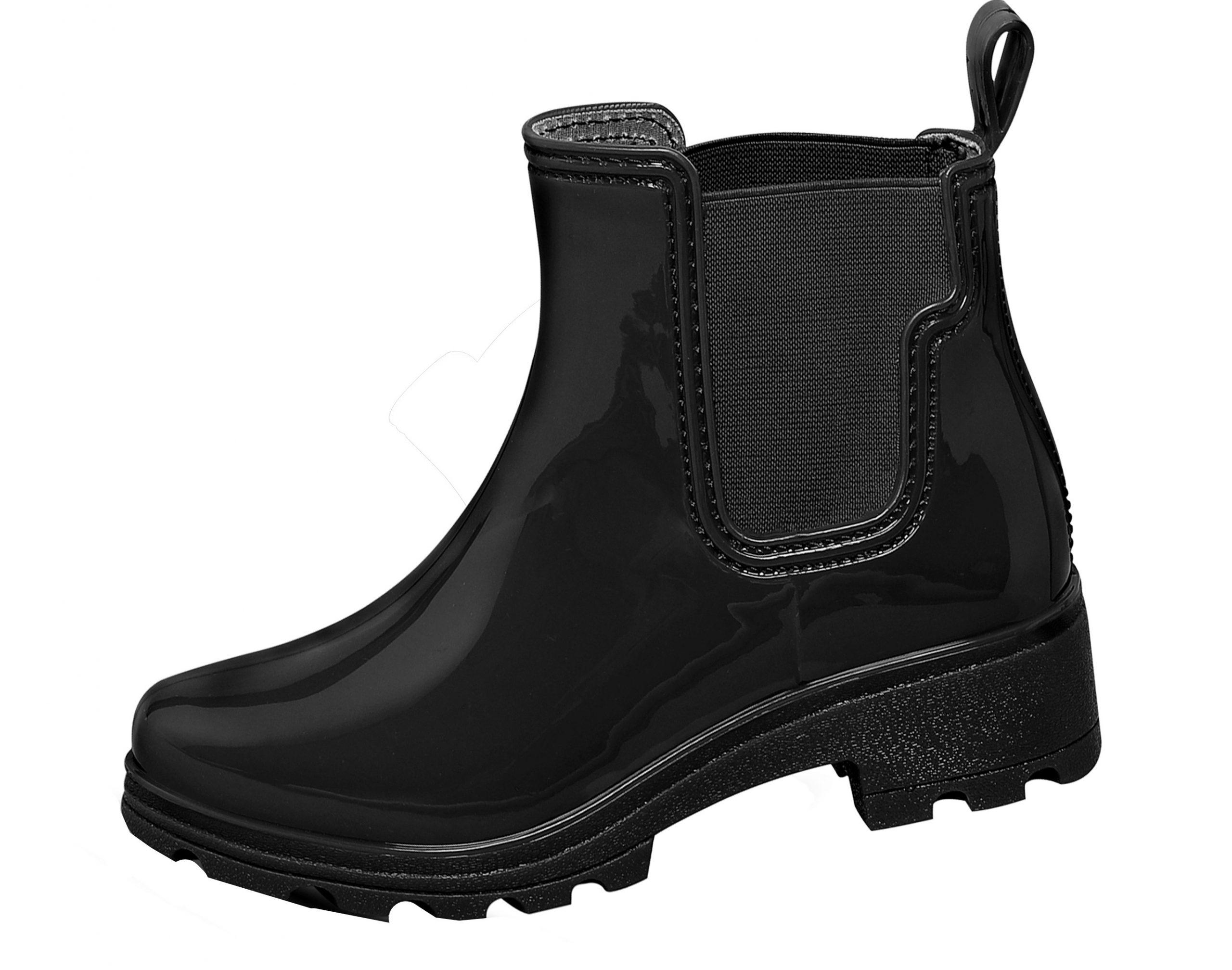 Ankle Rain Boots Black