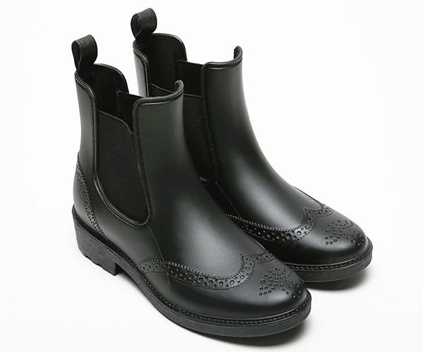 Black Chelsea Gumboots