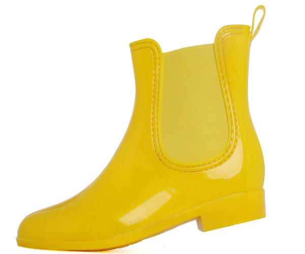 Candy Chelsea Womens Short Rubber Rain Boots