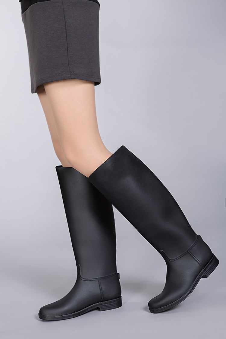 Classic Horse Riding Boots Fashion Rubber Tall Boots