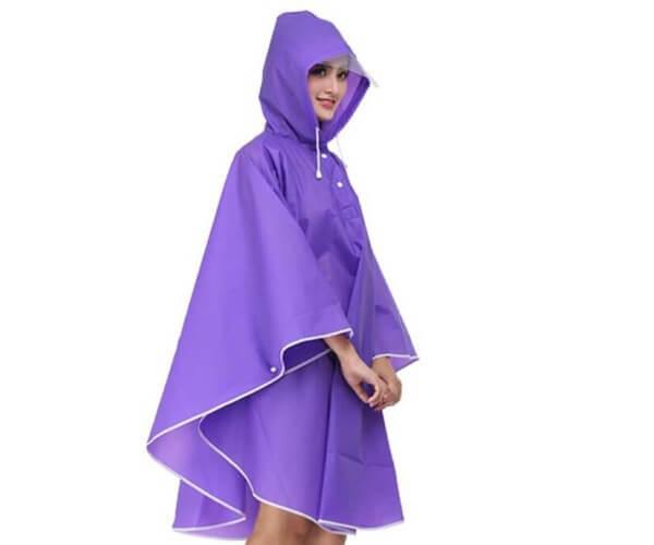 High Quality Ladies Poncho Rain side