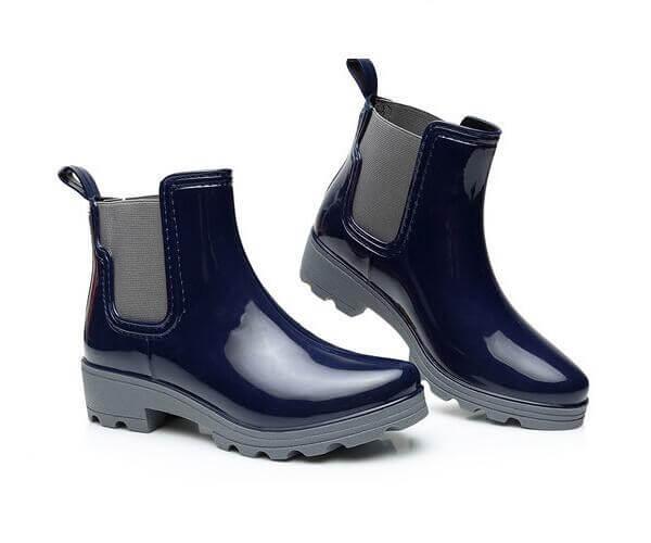 Women's Ankle Rain Boots Fashion Elastic Chelsea Booties Anti Slip Waterproof Slip On Short Rain Booties