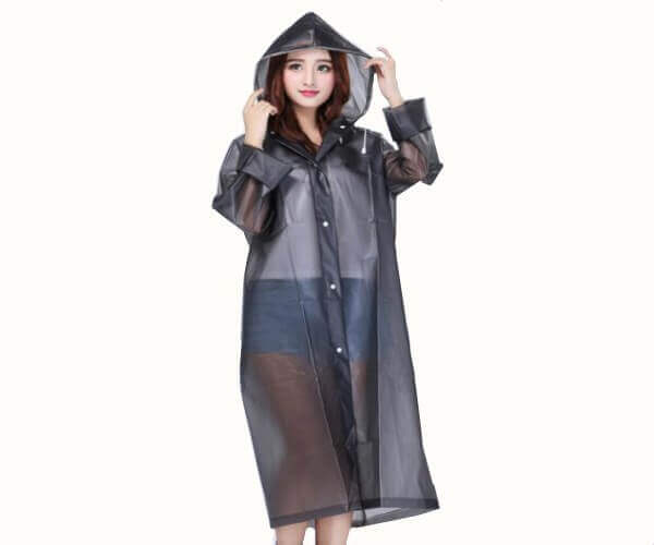 adult men and women rain poncho clearance reusable grey