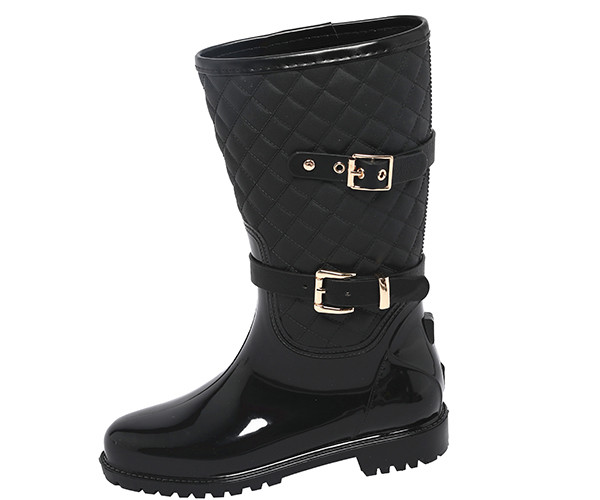 best tall rain boots for women with buckle