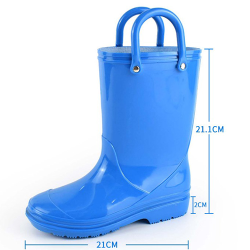 blue Lambo Toddler Kids Rain Boots for Girls Boys with Easy-On Loop Handle