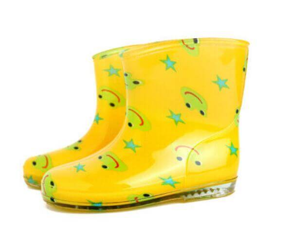 colorful cute baby rain boots frog printed