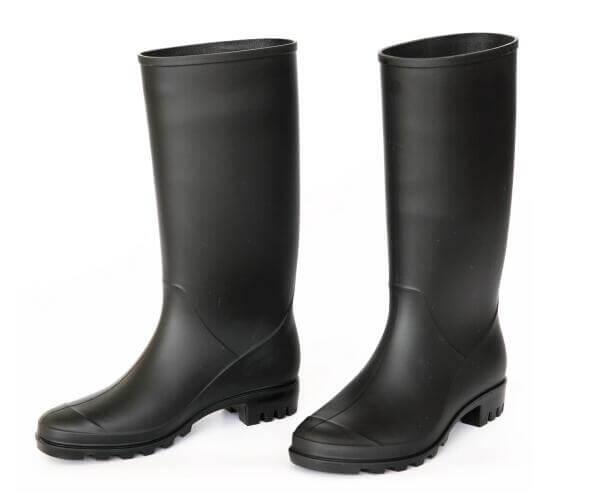 girls rain boots black