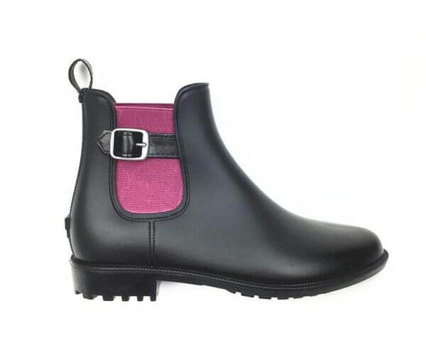 womens fashion short matte rain boots with elstic red