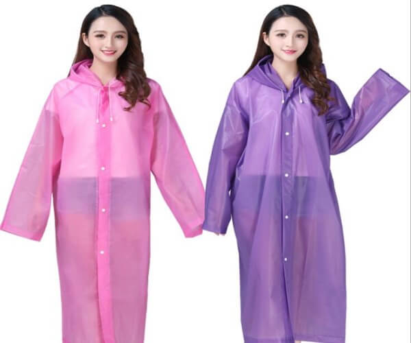 women's rain coat transparent lightweight