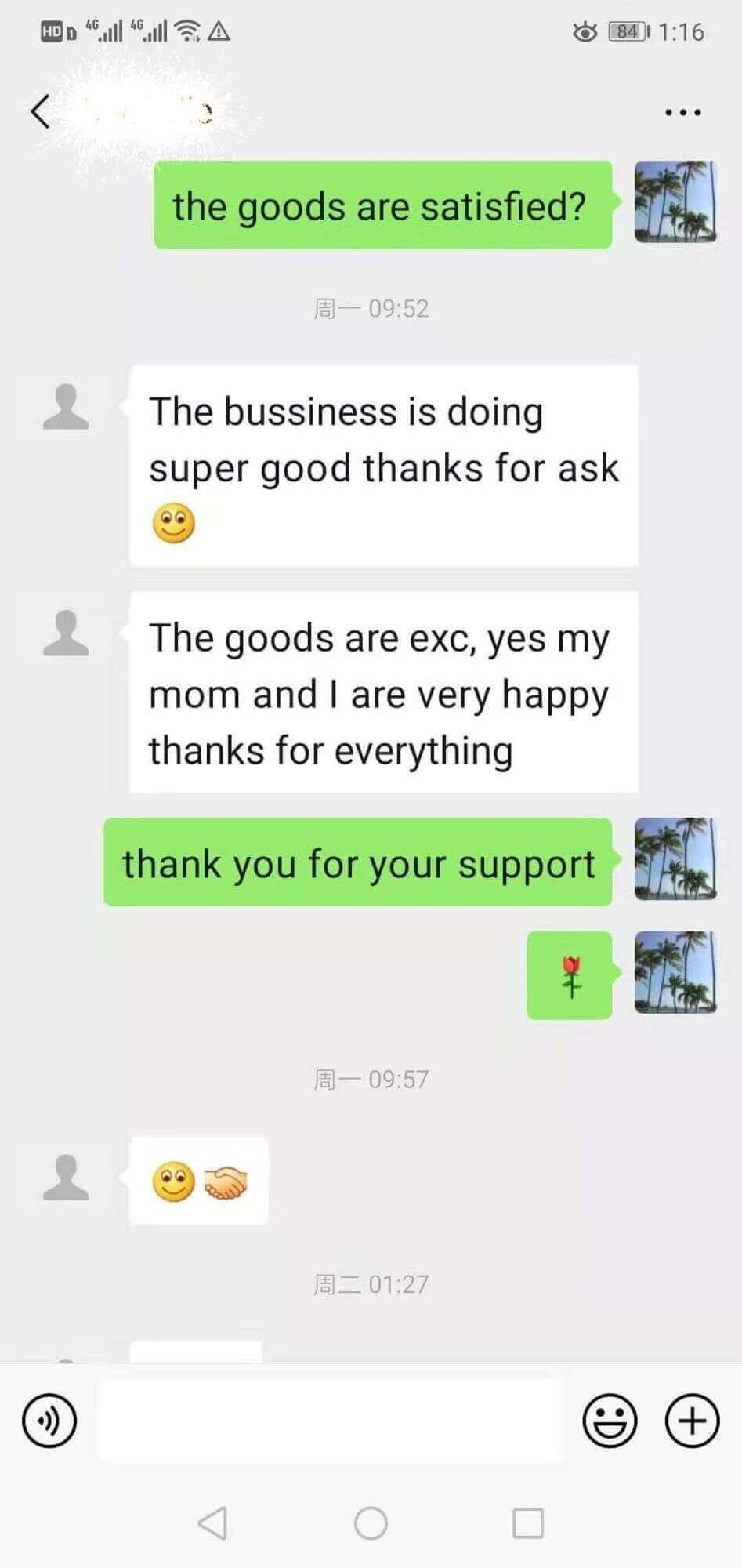 Lambo Raingear customer feedback 3