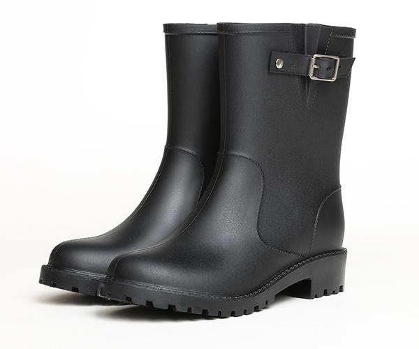 Mid Calf Rain Boots with buckle