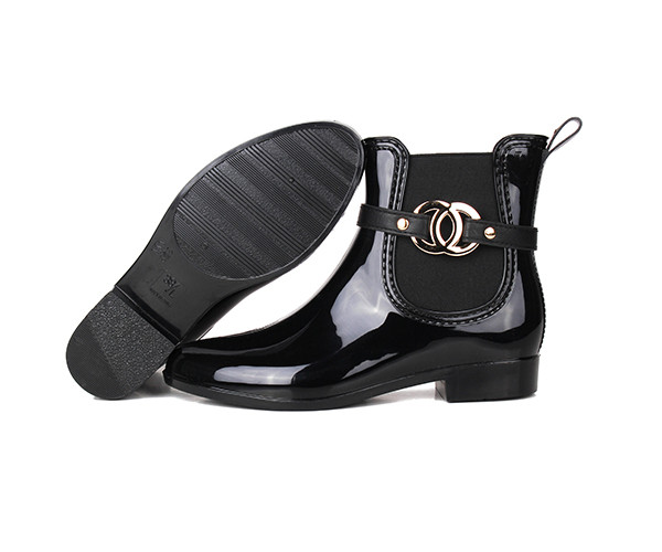 cheap ankle rain boots for ladies outsole