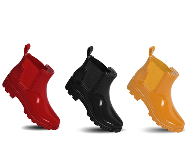 Candy elastic ankle rain booties