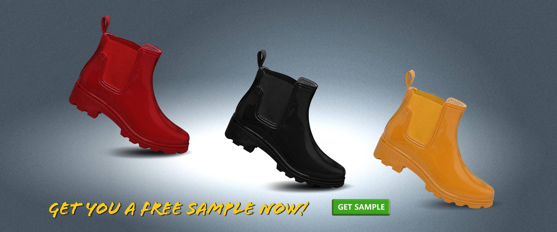 ankle rain boots sample
