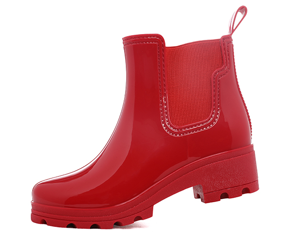Chelsea Rain Boots With Wedges Platform