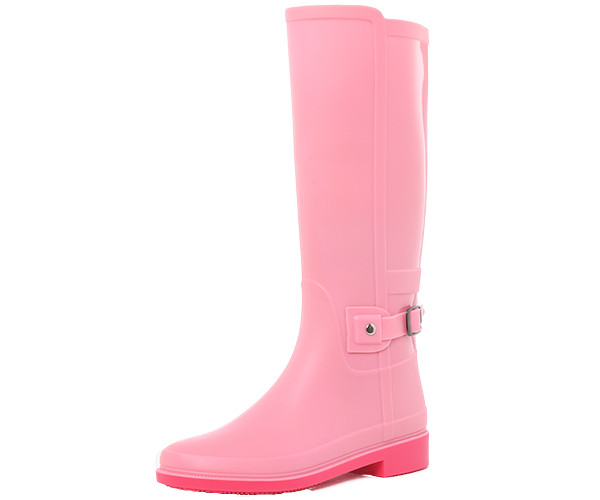 Pink Women's Tall Rain Boots With