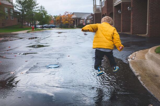 jumping rain boots