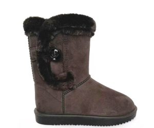 Snow boots with buckle
